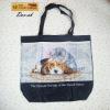 PVC cheaper full-page printing classics style handbag tote bag
