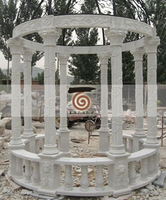 Outdoor garden stone gazebo