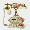 2012 Best selling fancy telephone set telephone portable telephone model Emboss hand-painted craft