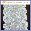 white flower france lace trim fabric for clothing