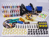 Complete Tattoo Kit 2 Machine Guns Set Equipment Power Supply 28 Color Inks