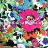 Rayon irregular woven spandex printed fabric