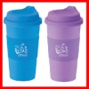 16oz double walled plastic thermo tumbler
