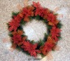 artificial poinsettia wholesale christmas wreath decorations