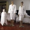 white 100% cotton bathrobe