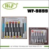 WF-9899 CR-V screw driver tools kit set(screwdriver) ,CE Certification.