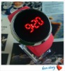 2012 Promotional PU Leather Strap Watch Cheap Touch Screen Watch Fashion LED Watch Rose Red Sport Digital Watch Mirror Watch