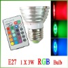 3W RGB LED Light with remote controller-CE&RoHs