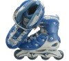 2012 retractable inline skate shoe for kids 103A BLUE