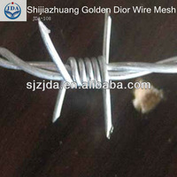 pvc coated or galvanized sharp barbed wire mesh (factoty)