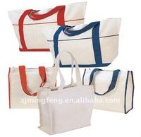 cotton canvas travel bag