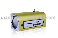 USB mini speaker,supporting SD/mmc card,USB,Fm radio