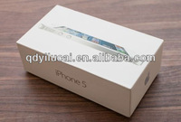 high quality customized white paper iphone box with golden stamping