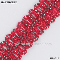 2012 top sale woven fashion trim for garment decoration (HF-012)