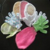 nylon loofah bath cleaning glove natural bath scrub