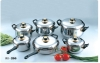 12pcs cookware sets stainless steel /bakelite handle