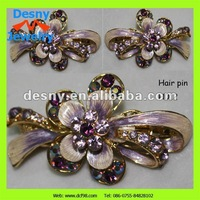 women female dainty fascinating luxurious rhinestone jewellry flower hairpins