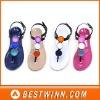 Fashionable women pvc crystal shoes