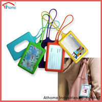 Silicone Reusable Eco-friendly Soft Touch retro luggage tags