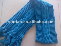 Fat Acrylic jacquard cable knitting Winter fashion Scarf