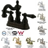 Heritage Double-handle Centerset Bathroom Faucet mixer