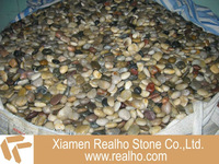 mix-color pebble stone
