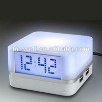 USB HUB WITH MOOD LIGHT WITH CLOCK