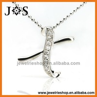 925 Sterling Silver Pendant Shaped Letter X Fashion CZ Pendant