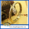 New Crystals Gold Plated Snake Bracelet Cuff Bangle