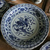 big blue white Porcelain Plate for appreciate RYVH16