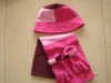 hat scarf gloves sets ,knitted hat scarf glove set, set MZS-830