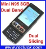 Mini N95 8GB (Leady MM95) Mini Mobile Phone Quad Band with Dual Sliding