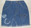 children's jeans skirt,100%cotton