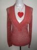 JL-1012 Ladies' Crochet Sweater (Component: cotton/nylon 80/20)