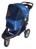 DARK BLUE 3 WHEEL DELUXE JOGGING PET STROLLER