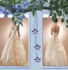 Ivory Embroidered and V-neck Bridal Wedding Dress,wedding gown WD583