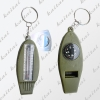 H4-1,compass,  4in1 whistle, thermometer, and magnifier