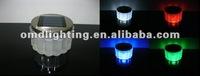 Crystal glass solar table light