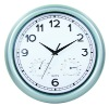 """12""""plastic wall clock with weather station"""