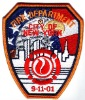 Memorial Embroidery Badge -911 fire patch
