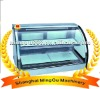 Minggu new curved glass food warming showcase(ISO9001/Manufaturer)