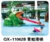Hot !!! New design lovely frog slide water park equipment
