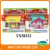 Plastic toy doll house