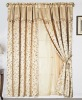 2pcs jacquard window curtain with valance