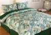 quilted bedspread and pillow sham