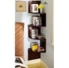 Corner storage shelves