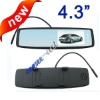 New design 4.3 inch tft lcd car rear mirror monitor