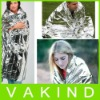 Fashion Portable 1.32m x 2.10m Emergency Foil Thermal Space Rescue Blanket