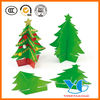 3D Christmas Trees Paper Christmas decorations glitter and pom-poms