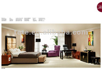 2012 modern Ebony wood hotel furniture/hotel bedroom set